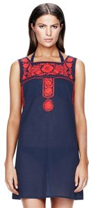 Tory Burch Tory Burch $250 Amira Dress Navy Blue White Swimsuit Cover Up size L Large