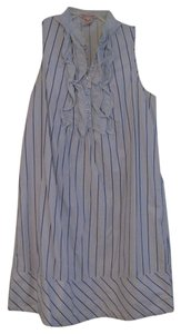 Fire short dress Blue with Navy Blue Stripes on Tradesy