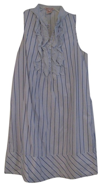 Preload https://item5.tradesy.com/images/fire-blue-with-navy-blue-stripes-ruffled-knee-length-short-casual-dress-size-6-s-1240444-0-0.jpg?width=400&height=650