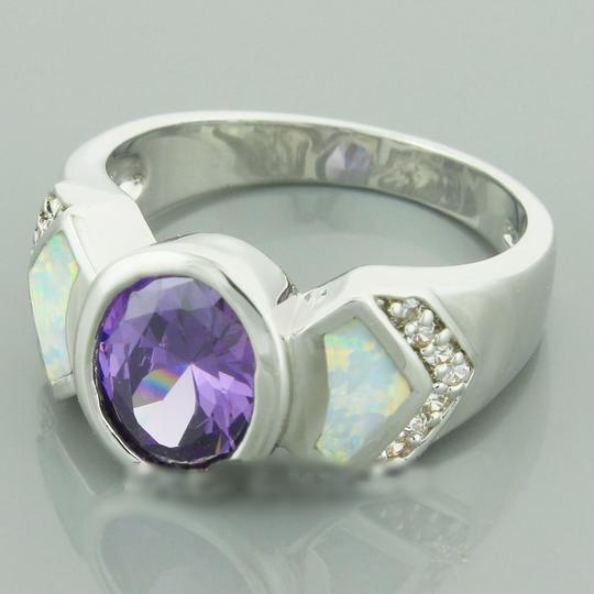 Unknown Amethyst White Fire Opal Fashion Ring Free Shipping
