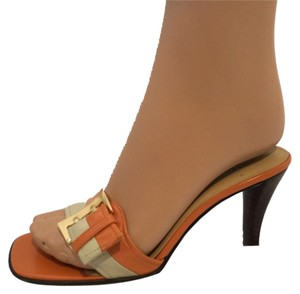 Anne Klein Orange/Cream Sandals