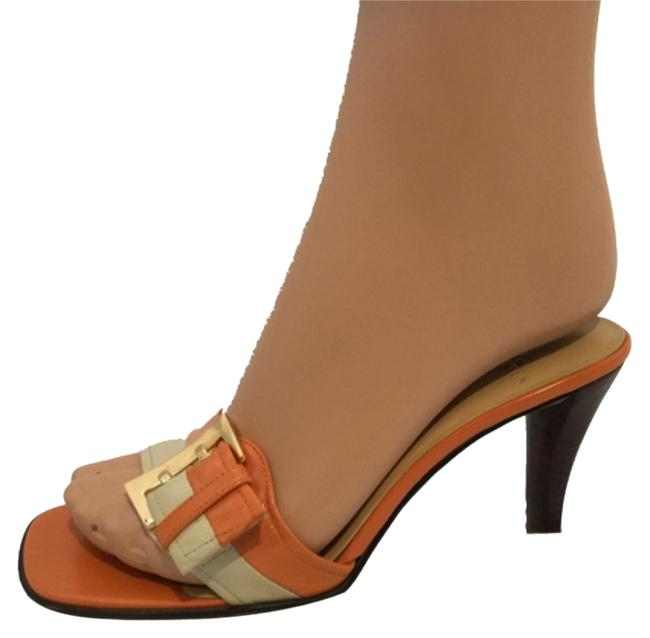 Item - Orange/Cream Sandals Size US 6.5 Regular (M, B)