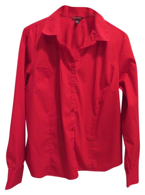 George Button Down Shirt Red