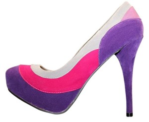 Ashley Stewart Purple, Pink, Grey Wedges