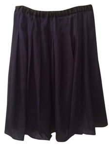 Uniqlo Skirt Dark Blue W/ Black