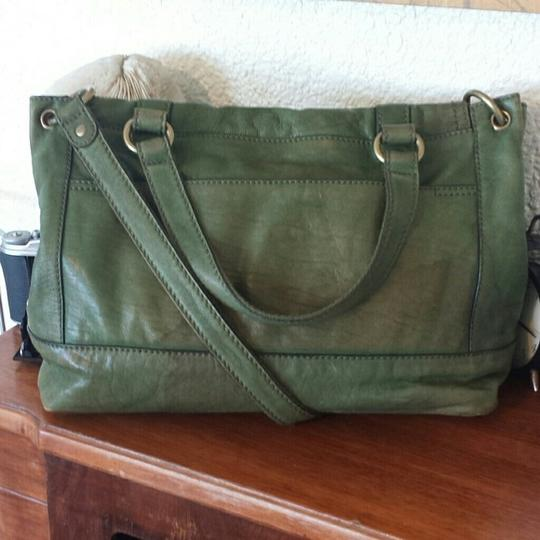 Fossil Leather Convertible Briefcase Vintage Cross Body Bag