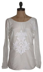 Banana Republic Longsleeve Embroidered Top IVORY