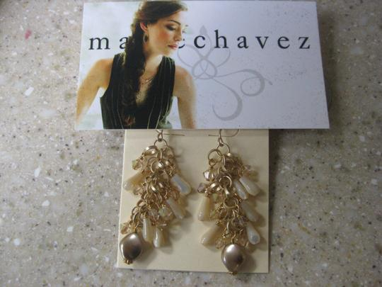 Marie Chavez Mother of pearl and Swarovski crystal accents