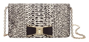 Kate Spade Black, White, Red, Multi Clutch