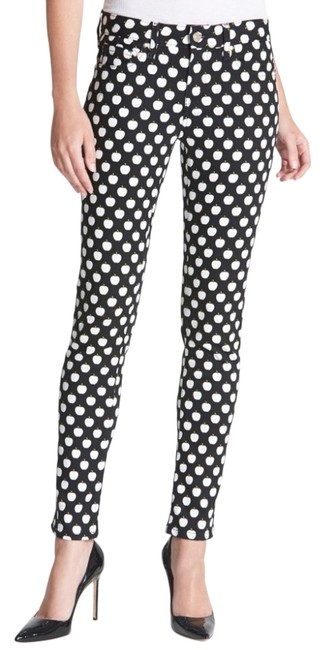 Item - Black and White Broome with Apples Skinny Jeans Size 32 (8, M)