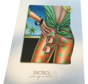 PAOLO CASAGRANDE POSTER RARE & SIGNED NOT A CALENDER. PRINTED IN ITALY( stated on poster) (luxottica) THIS POSTER WAS DESIGNED FOR LUXOTTICA IN 1986 RARE SIGNED
