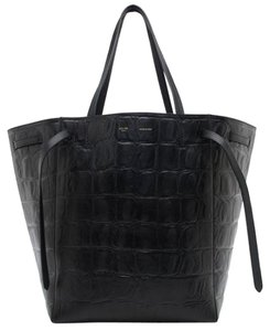 Céline Luggage Nano Micro Trapeze Box Tote in Black