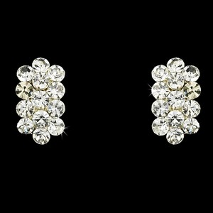 Elegance By Carbonneau Clear Rhinestone Clip On Earrings E 24678