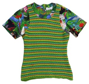 Altuzarra Green Tropical Print Short Sleeve T Shirt