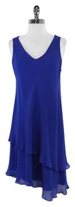 Eileen Fisher short dress Sleeveless Cobalt Blue Silk on Tradesy