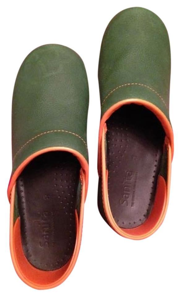 WOMEN Sanita Green Mules/Slides Nwot Mules/Slides Green Excellent value 8bd0e7