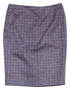Jil Sander Pink Blue Tweed Pencil Skirt