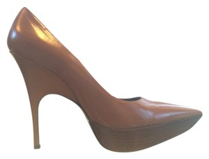 Balenciaga Leather Stiletto Fall Brown Pumps