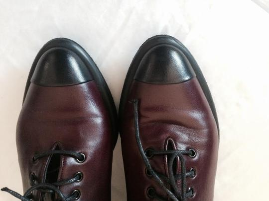 Walter Steiger Oxford Professional Lace-up Men's Style Office Work Cushioned Heel Oxblood Black, Wine Flats
