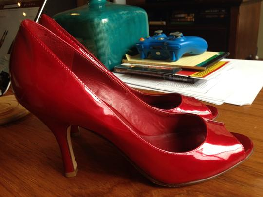Antonio Melani Red Patent Pumps