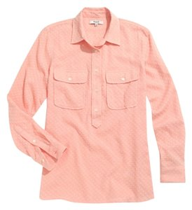 Madewell Pull Over Shirt Top Peach
