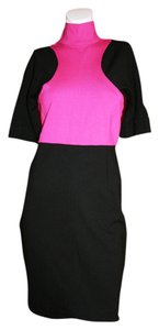 Karl Lagerfeld short dress Pink/Black Color-blocking on Tradesy