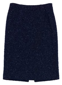 Moschino Blue Shimmer Tweed Skirt