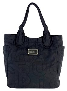 Marc by Marc Jacobs Black Nylon Quilted Logo Hobo Bag