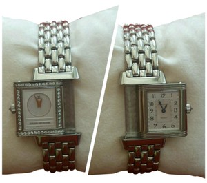 Jaeger-LeCoultre JAEGER LeCOULTRE Reverso Duetto White 18K Gold Mother of Pearl Diamonds Ladies Watch