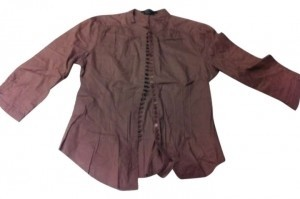 BCBGMAXAZRIA Button Down Shirt Brown