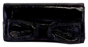 Kate Spade Black Patent Leather Bow Wallet