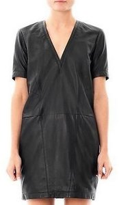 Helmut Lang Leather Edgy Shift Dress