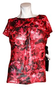 Giambattista Valli Top Red Floral