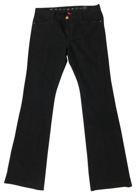 Preload https://item5.tradesy.com/images/earnest-sewn-black-classic-trouserwide-leg-jeans-size-32-8-m-124109-0-2.jpg?width=400&height=650