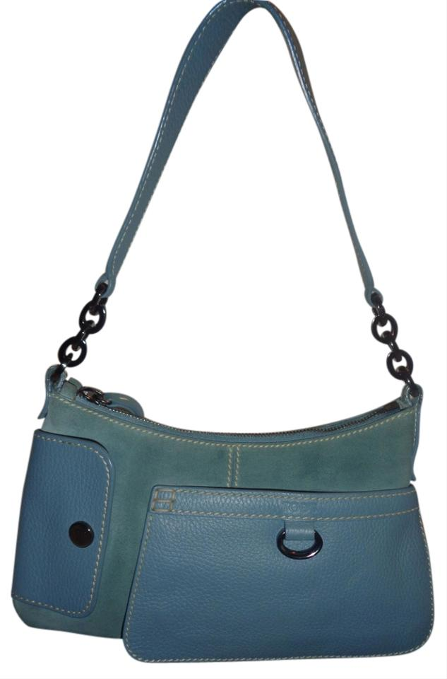1f73abcd7f Tod's Purse Made In Italy Light Blue Suede Leather Baguette - Tradesy