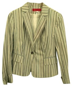 Anne Klein Cream, turquoise, navy blue, light brown Blazer