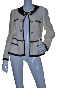 Moschino White & Black trim Blazer