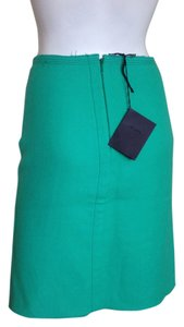 Prada Wool A Lined Formal Cocktail Skirt Aqua Green & Lavender
