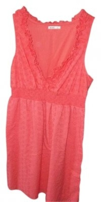 Preload https://img-static.tradesy.com/item/12412/old-navy-salmon-sleeveless-above-knee-short-casual-dress-size-14-l-0-0-650-650.jpg