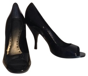BCBGMAXAZRIA Black Patent Pumps