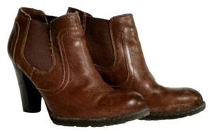 B.O.C. Leather Distressed Lug Sole Cognac Boots