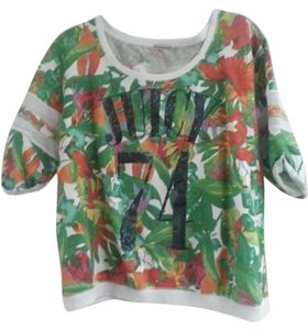 Juicy Couture Tropical Terry Tunic Sweatshirt