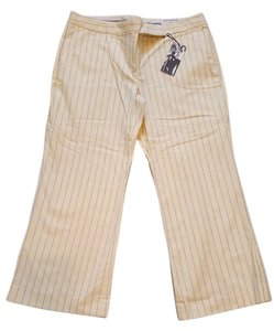 Express Capris yellow with light blue pinstripe