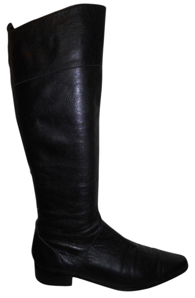bbc72aec54e Calvin Klein Black Tall Leather Boots Booties Size US 7.5 Regular (M ...
