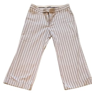 Gap Cropped Capri Capri/Cropped Pants Gray with blue & white pinstripe