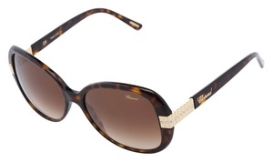 Chopard New Chopard SCH-110 722 Brown Havana Swarovski Crystals Sunglasses
