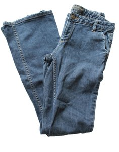 Banana Republic Medium Wash Denim Flare Leg Jeans-Medium Wash