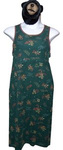 Hunter Green Maxi Dress by Erika & Co. Medium Petite Maxi Sleeveless New