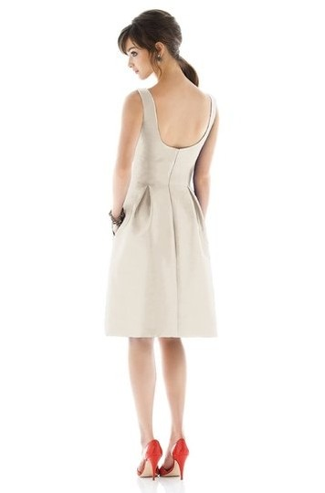 Alfred Sung Quarry Dupioni D448 Modern Bridesmaid/Mob Dress Size 4 (S)