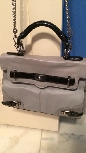 Rebecca Minkoff Removable Chain Patent Detail Silver Hardware Shoulder Bag